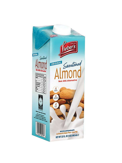 Lieber's Almond Milk (Sweetened) 32 oz.