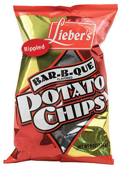 Lieber's BBQ Rippled Potato Chips 9 oz.