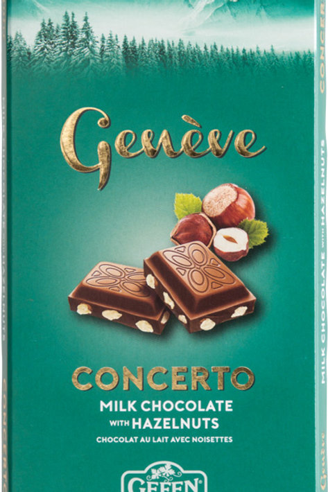 Gefen Geneve Milk Chocolate Bar With Hazelnuts