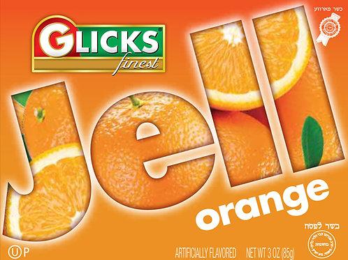 Glicks Orange Jello 3oz