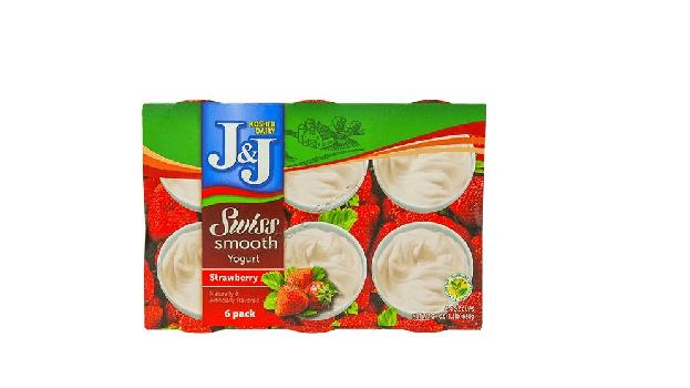 J&J  Strawberry  Swiss Smooth Yogurt 6x4oz