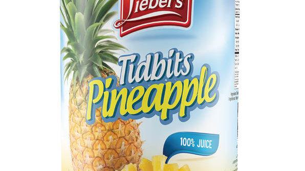 Lieber's Tidbits Pineapple 20 oz.