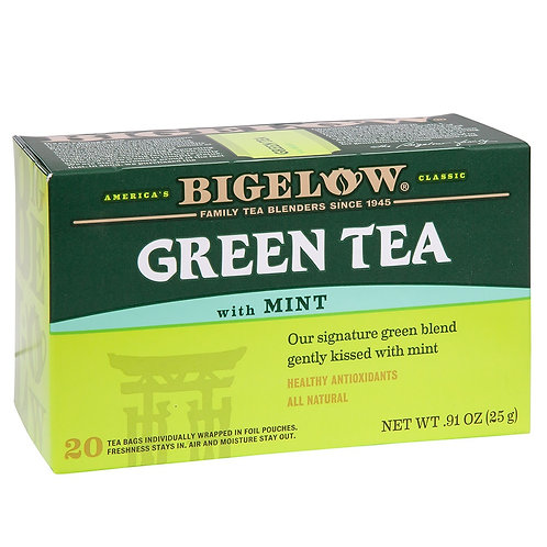 Bigelow Green Tea With Mint 20 Ct
