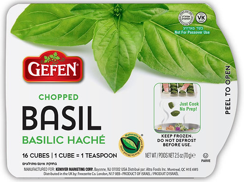 Gefen Chopped Basil Cubes 2.5oz