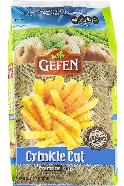 Gefen White Potato Fries Crinkle Cut 26oz