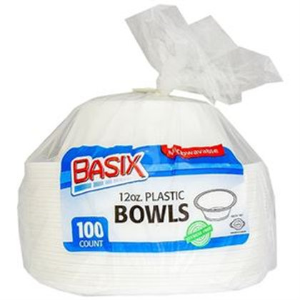 Plastix Plastic Bowls 12oz 100ct