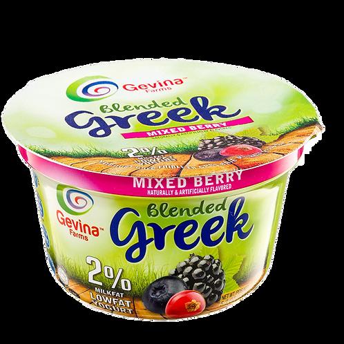 Gevina  Mix Berries  Greek Yogurt 2% Blended 5.3oz