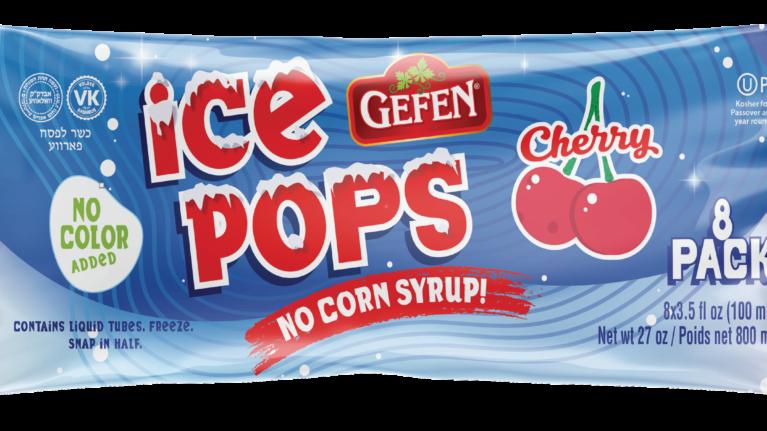 Gefen Cherry Ice Pops 8-Pk
