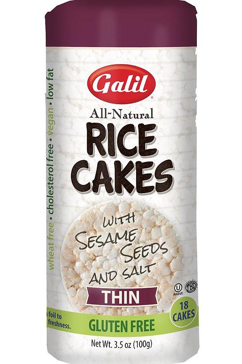 Galil Thin Rice Cakes Sesame/Sea Salt 3.5 oz