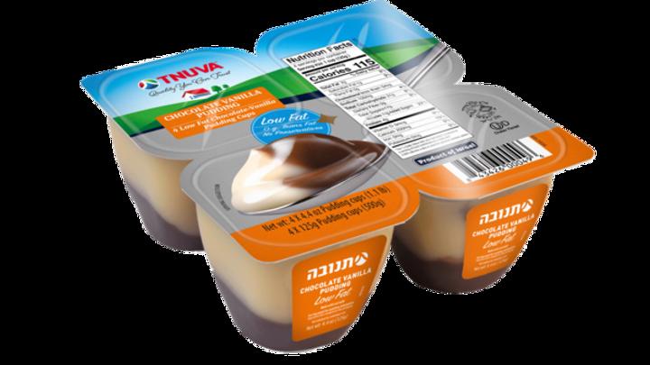 Tnuva Chocolate Vanilla Pudding 4X4.42oz