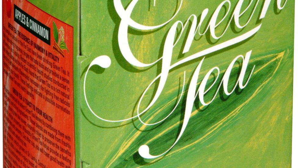 Wissotzky Green Tea W/Apple & Cinnamon