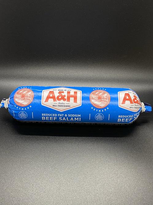 A&H Beef Salami Reduce Fat 12oz