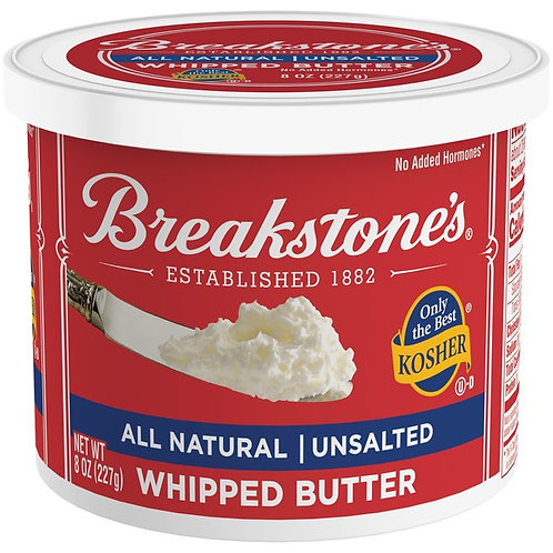 Breakstone Whipped Butter Unsalted 8oz