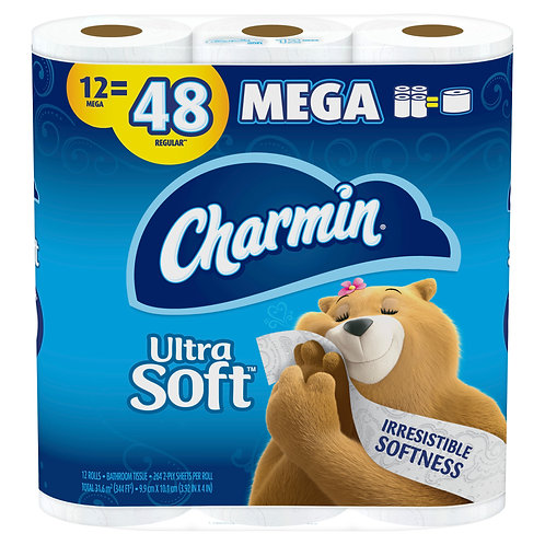 Charmin Ultra Soft Mega Roll 12ct