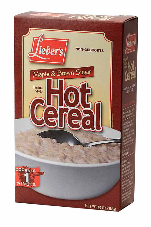 Lieber's Hot Cereal(Maple & Brown Sugar) 10 oz.