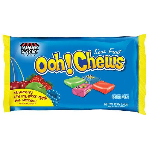 Paskesz Ooh Chews Sour Fruit 12oz