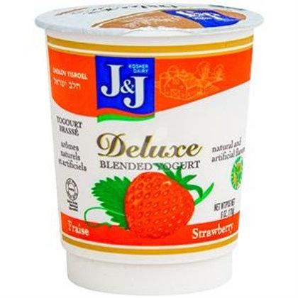 J&J  Royal Strawberry  Deluxe Yogurt 6oz