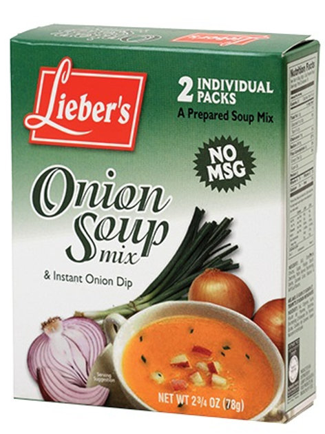 Lieber's Onion Soup & Dip Mix (No Msg) 2.75 oz.