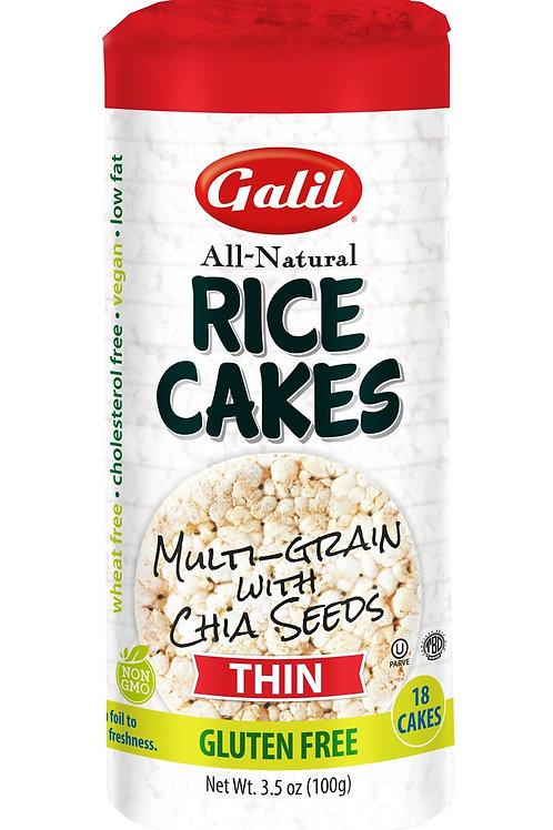 Galil Thin Multigrain Cakes Sea Salt/Chia 3.5 oz