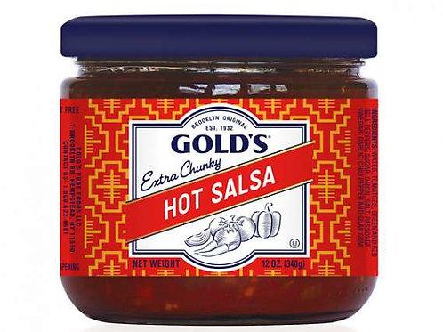 Golds Hot Salsa 12 Oz