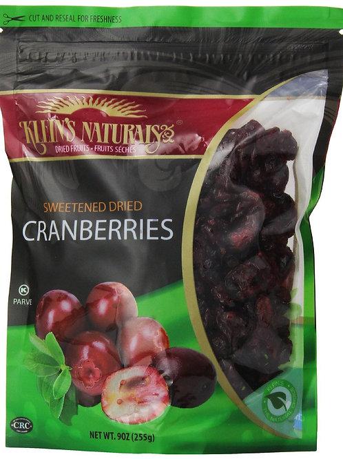 Klein's Cranberries Dried 9oz