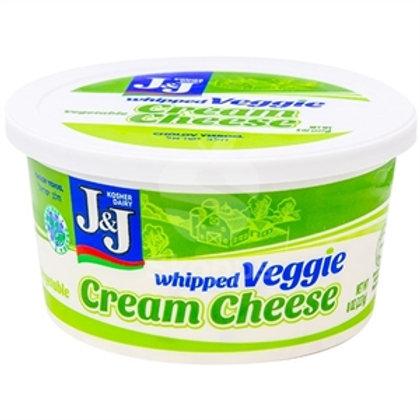 J&J  Whipped Vegetable Cream Cheese  8oz