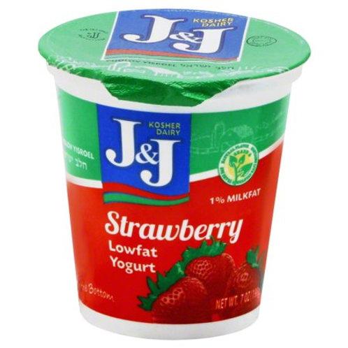 J&J  Strawberry  Yogurt 7oz