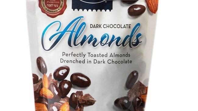 Bartons Dark Choc Cover Almonds Pouch Parve 8.5 Oz