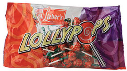 Lieber's Strawberry Lollypops 12 oz.