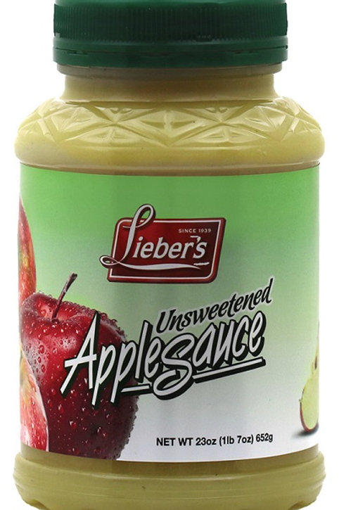 Lieber's Apple Sauce(Unsweetened) 23 oz.