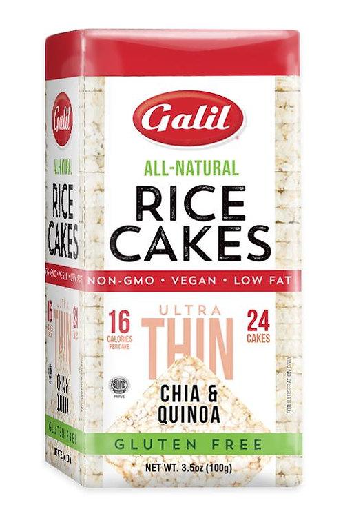 Galil Ultra Thin Rice Cakes Chia/Quinoa 3.5 oz