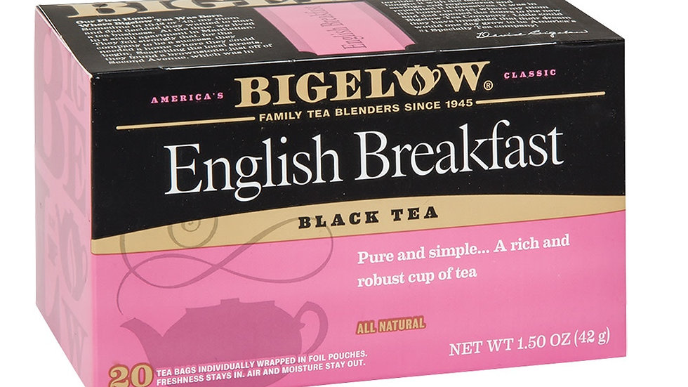 Bigelow English Breakfast Tea 20 Ct