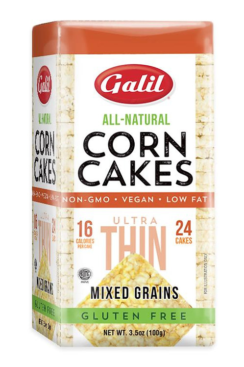 Galil Ultra Thin Corn Cakes Mixed Grains 3.5 oz