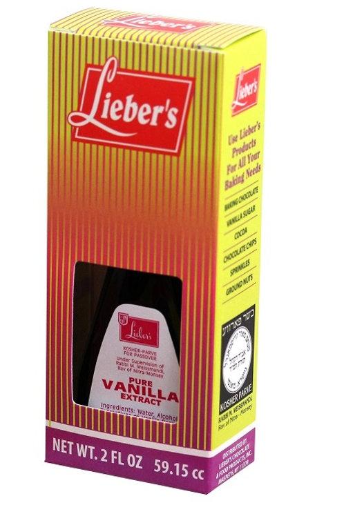 Lieber's Pure Vanilla Extract 2 oz.
