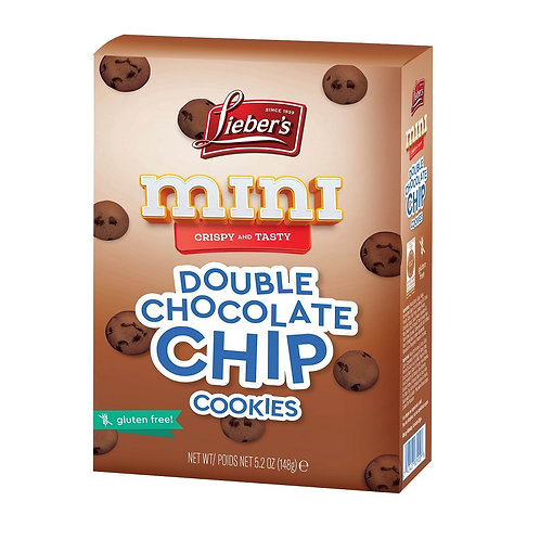 Lieber's Mini Double Chocolate Chip Cookies 5.2 oz.
