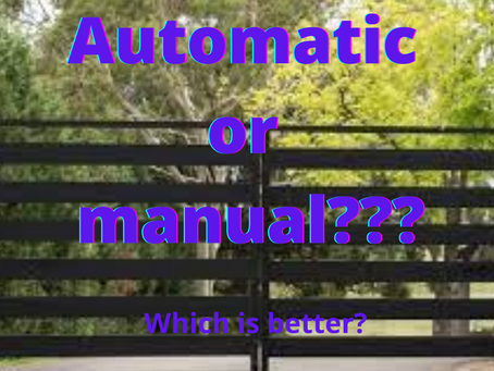 WHICH IS A BETTER OPTION?                                  AUTOMATIC VS. MANUAL SECURITY GATES