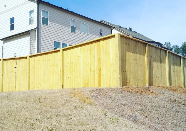 6ft Privacy Fence- Semi Capped