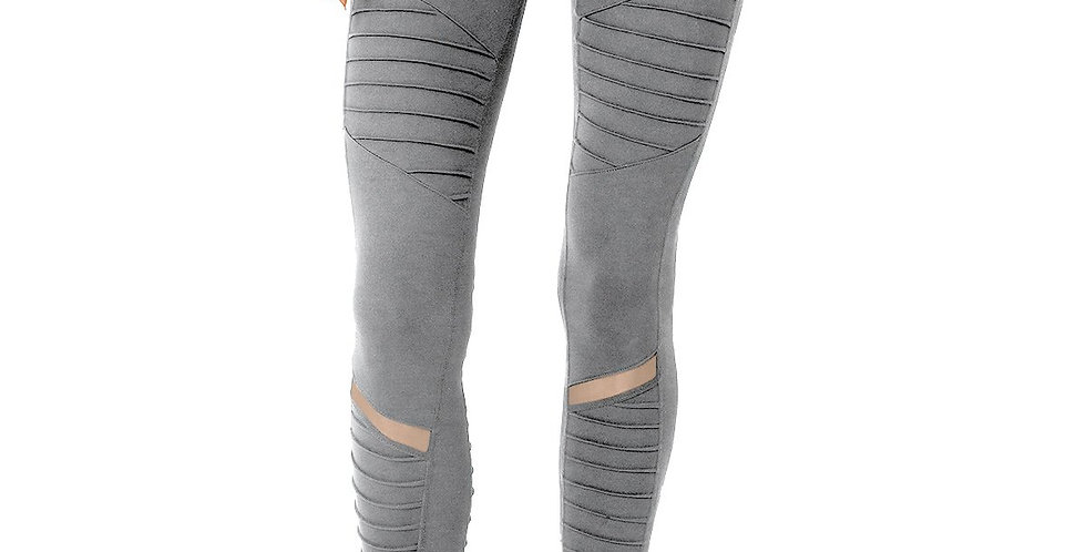 Athletique Low-Waisted Ribbed Leggings