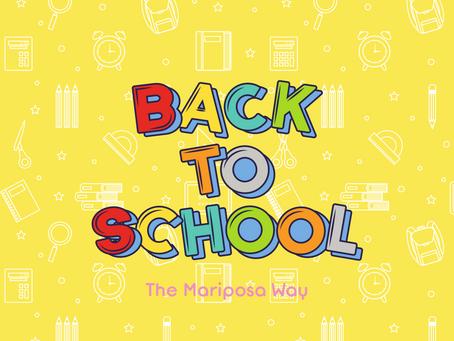 Back to School the Mariposa Way
