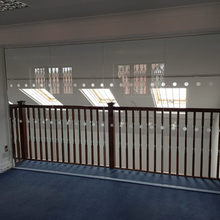 Glass partition fit out