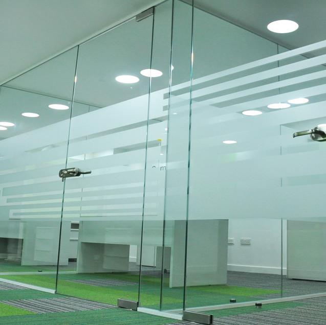 glass partition door