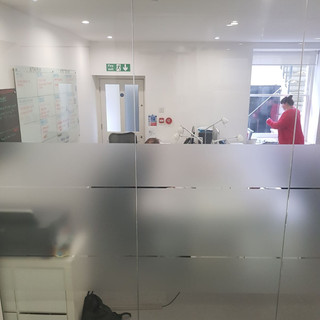 Glazed partition wall London