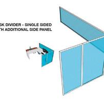 glass desk divider screen