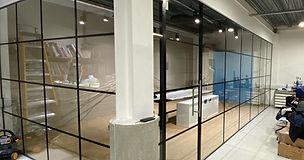glass partition walls london