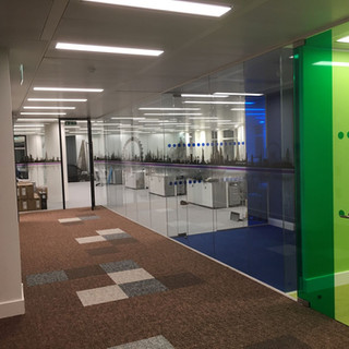 Glass partition fit-out London