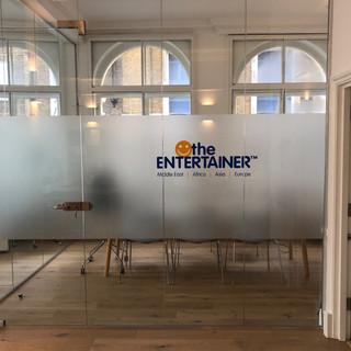 Frameless glass office partitioning London