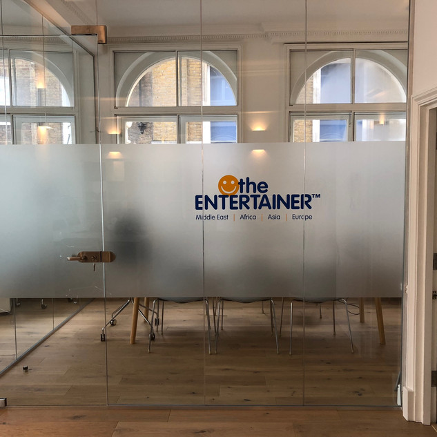 Frameless glass office partitioning London