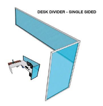 single desk divider