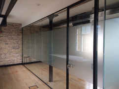 glass walls office