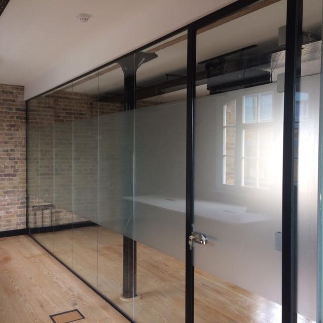 glass door with frame